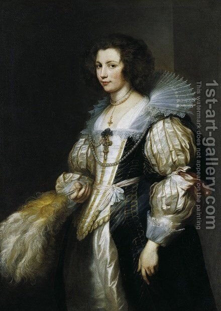Portrait of Maria de Tassis c 1629 1630 by Sir Anthony Van Dyck - Reproduction Oil Painting