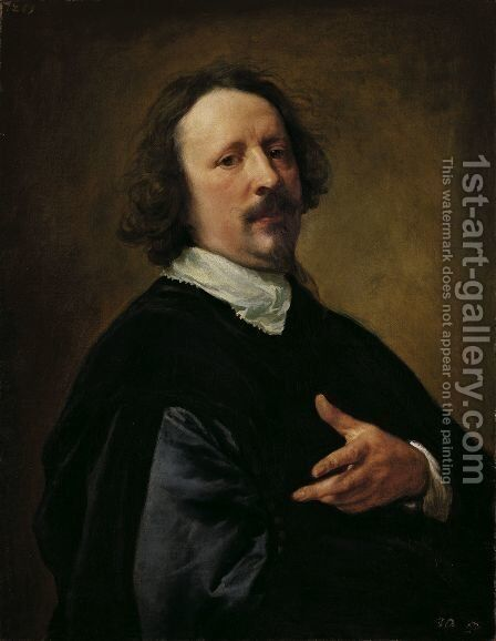 Portrait of the Painter Caspar de Crayer by Sir Anthony Van Dyck - Reproduction Oil Painting