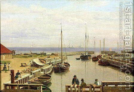 The Port of Dragor 1826 by Christoffer Wilhelm Eckersberg - Reproduction Oil Painting