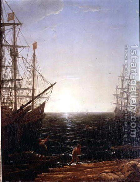 Harbour Scene 2 by Claude Lorrain (Gellee) - Reproduction Oil Painting