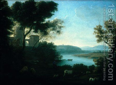 Pastoral Landscape The Roman Campagna ca 1639 by Claude Lorrain (Gellee) - Reproduction Oil Painting
