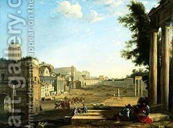 The Campo Vaccino Rome by Claude Lorrain (Gellee) - Reproduction Oil Painting