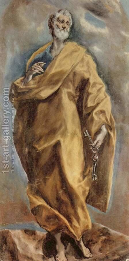 Saint Peter 1610-14 by El Greco - Reproduction Oil Painting