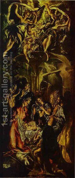 The Adoration Of The Shepherds 1590s by El Greco - Reproduction Oil Painting