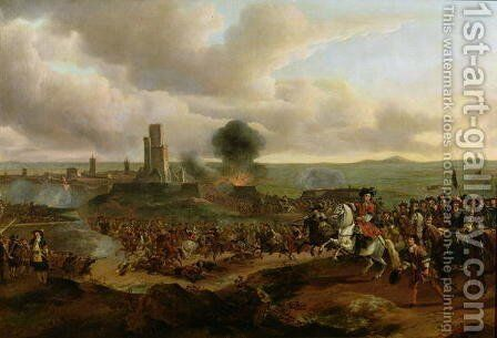 A Battle Scene in 1673 by Jan Baptist Lodewyck Maes - Reproduction Oil Painting