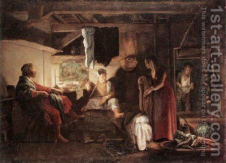 Jupiter and Mercury at Philemon and Baucis 1609 1610 by Adam Elsheimer - Reproduction Oil Painting