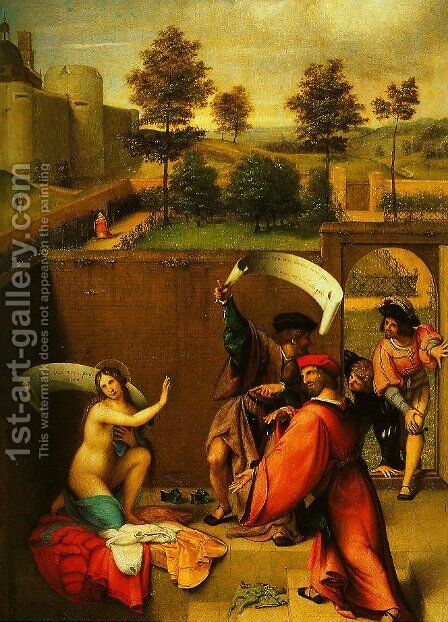 Susanna and the Elders by Johann-Nepomuk Ender - Reproduction Oil Painting