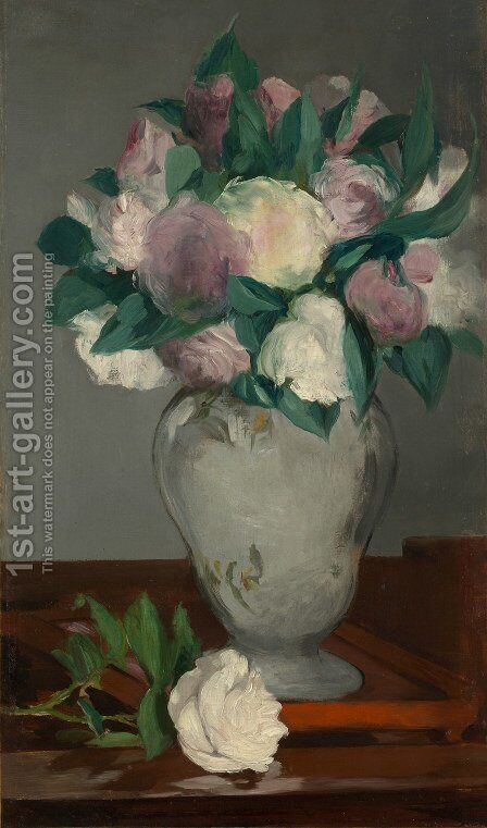 Peonies by Edouard Manet - Reproduction Oil Painting
