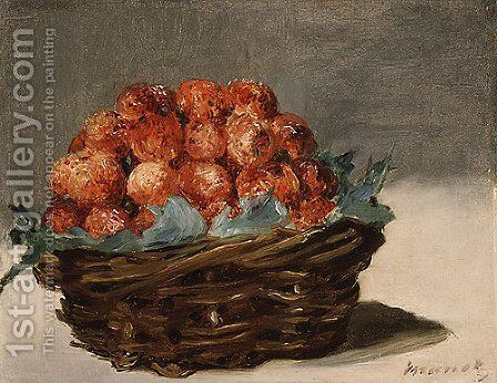 Strawberries ca. 1882 by Edouard Manet - Reproduction Oil Painting