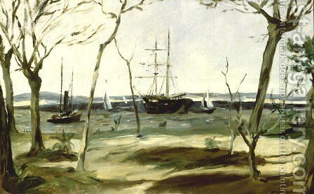 The Bassin d'Arcachon by Edouard Manet - Reproduction Oil Painting