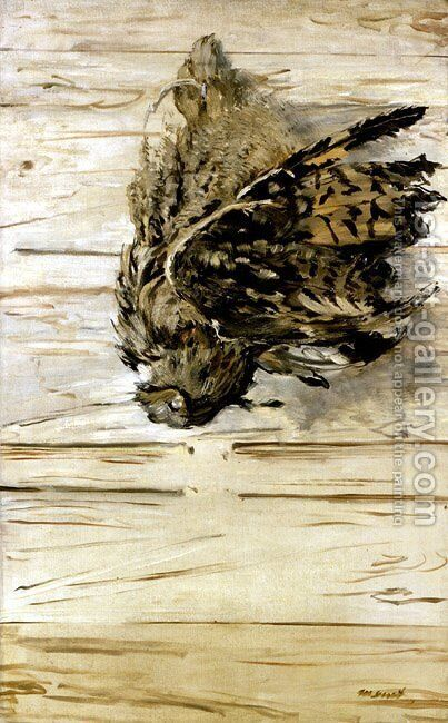 The Great Horned Owl by Edouard Manet - Reproduction Oil Painting