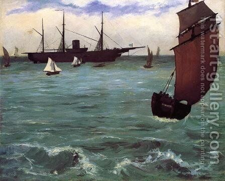 The Kearsarge at Boulogne 1864 by Edouard Manet - Reproduction Oil Painting