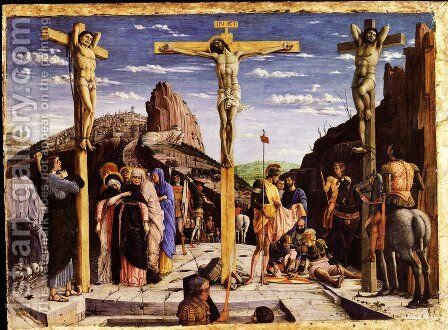 Calvary Center Of The Predella Painted For The Church Of San Zeno In Verona 1457-60 by Andrea Mantegna - Reproduction Oil Painting