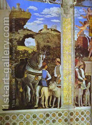 Marquess Ludovico Greeting His Son Cardinal Francesco Gonzaga Detail 1 1465-74 by Andrea Mantegna - Reproduction Oil Painting