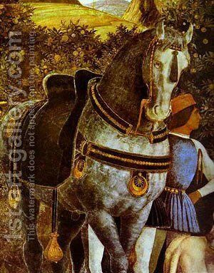 Marquess Ludovico Greeting His Son Cardinal Francesco Gonzaga Detail 4 1465-74 by Andrea Mantegna - Reproduction Oil Painting