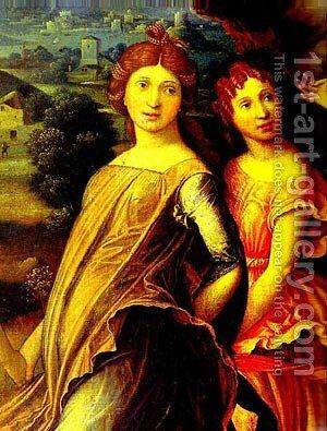 Mars And Vernus Known As Parnassus Detail 1 Louvre Paris France by Andrea Mantegna - Reproduction Oil Painting