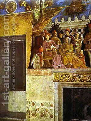 The Gonzaga Family And Retinue Detail 2 1465-74 by Andrea Mantegna - Reproduction Oil Painting