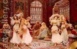 Harem Dancers by Elemer Vass - Reproduction Oil Painting