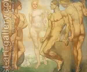 The Judgement Of Paris by Edgar Maxence - Reproduction Oil Painting