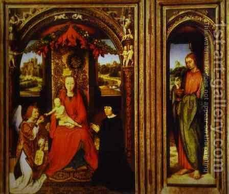 Altar Of Saints John The Baptist And John The Evangelist by Hans Memling - Reproduction Oil Painting