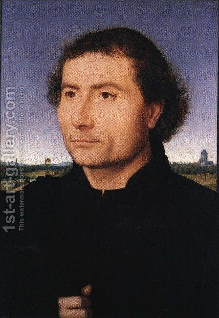 Portrait of a Man 1470 by Hans Memling - Reproduction Oil Painting