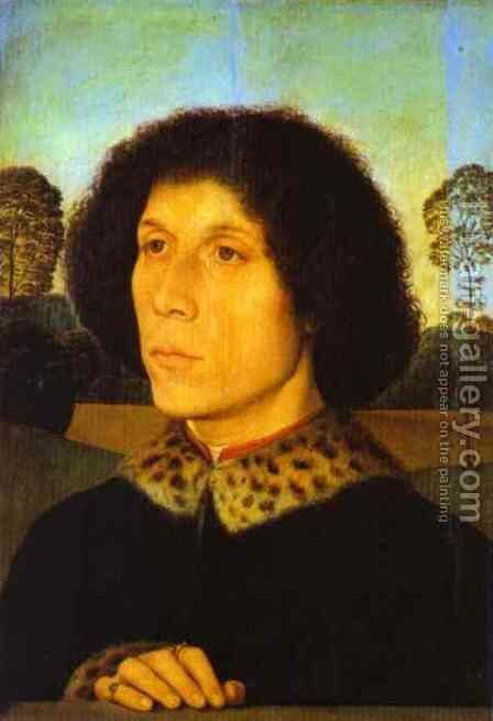 Portrait of a Man in a Landscape by Hans Memling - Reproduction Oil Painting
