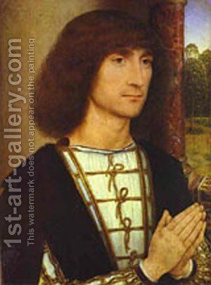Portrait Of A Praying Man 1480-1485 by Hans Memling - Reproduction Oil Painting