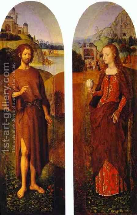 St John The Baptist And St Mary Magdalen by Hans Memling - Reproduction Oil Painting