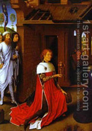 The Adoration Of The Magi Detail 1 1470s by Hans Memling - Reproduction Oil Painting