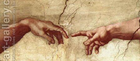 Creation of Adam Hands only by Michelangelo - Reproduction Oil Painting