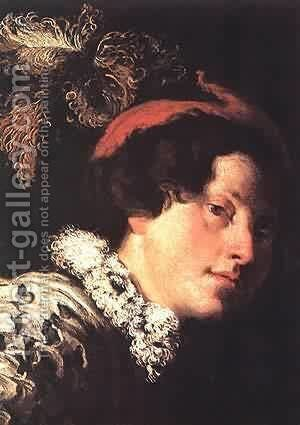 David (Detail) 1620 by Domenico Feti - Reproduction Oil Painting