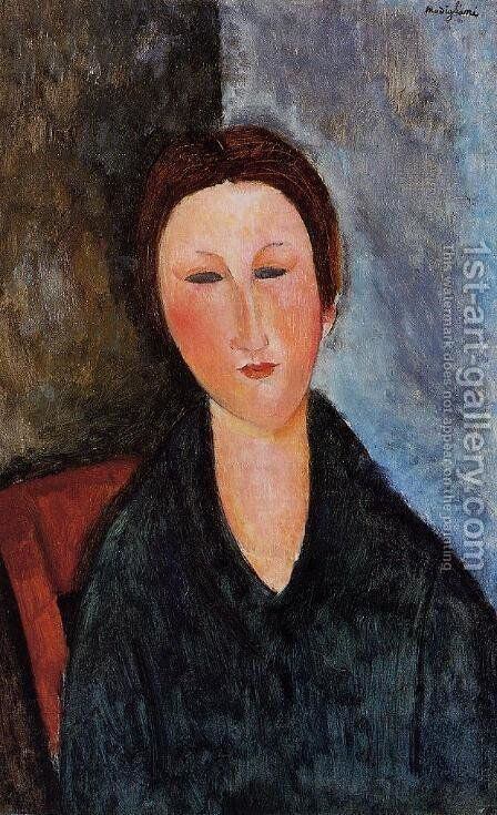 Bust of a Young Woman (aka Mademoiselle Marthe) 1916 1917 by Amedeo Modigliani - Reproduction Oil Painting