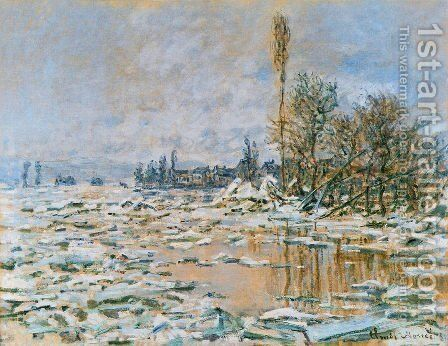 Breakup of Ice Grey Weather 1880 by Claude Oscar Monet - Reproduction Oil Painting