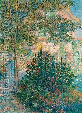 Camille Monet in the Garden at Argenteuil 1876 by Claude Oscar Monet - Reproduction Oil Painting