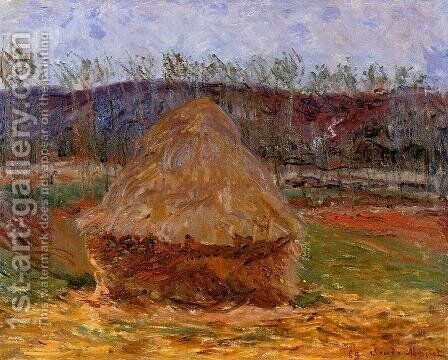 Grainstacks at Giverny 1889 by Claude Oscar Monet - Reproduction Oil Painting