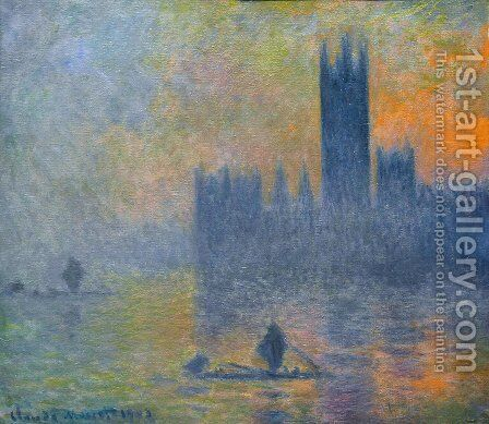 Houses of Parliament Fog Effedt 1899-1901 by Claude Oscar Monet - Reproduction Oil Painting