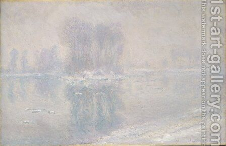 Ice Floes 1893 by Claude Oscar Monet - Reproduction Oil Painting