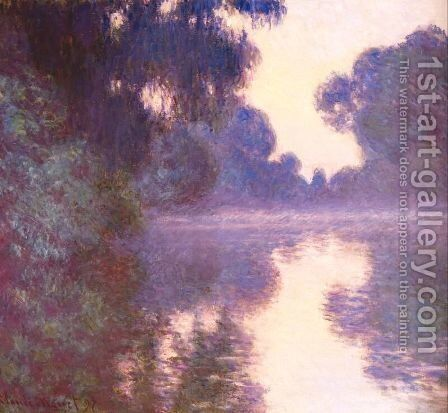 Misty morning on the seine blue 1892 by Claude Oscar Monet - Reproduction Oil Painting