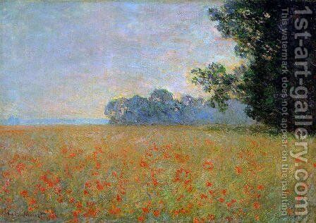 Oat and Poppy Field2 1890 by Claude Oscar Monet - Reproduction Oil Painting