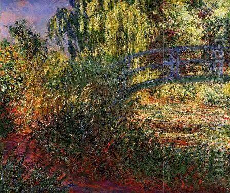 Path along the Water-Lily Pond 1900 by Claude Oscar Monet - Reproduction Oil Painting