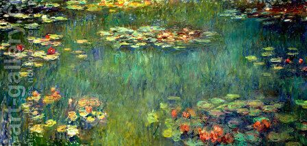 Pool with Waterlilies by Claude Oscar Monet - Reproduction Oil Painting