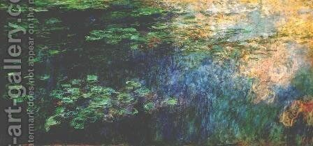 Reflections of Clouds on the Water-Lily Pond (triptych left panel) 1920-1926 by Claude Oscar Monet - Reproduction Oil Painting