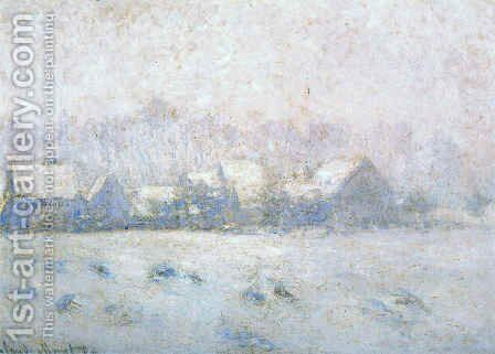 Snow at Giverny by Claude Oscar Monet - Reproduction Oil Painting