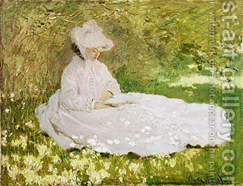 Springtime 2 by Claude Oscar Monet - Reproduction Oil Painting