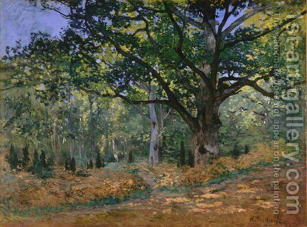 The Bodmer Oak Fontainebleau Forest 1865 by Claude Oscar Monet - Reproduction Oil Painting