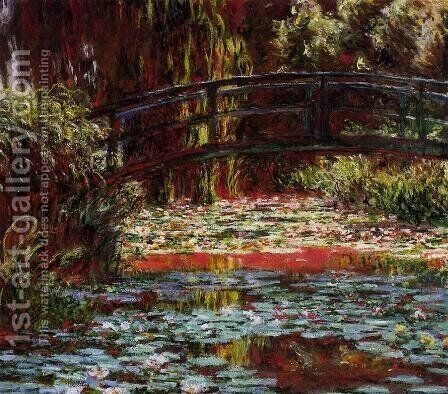 The Bridge over the Water-Lily Pond 1900 by Claude Oscar Monet - Reproduction Oil Painting