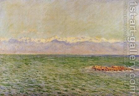 The Meditarranean at Antibes2 1888 by Claude Oscar Monet - Reproduction Oil Painting