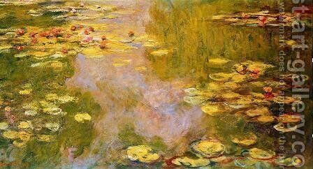 The Water-Lily Pond 1919 by Claude Oscar Monet - Reproduction Oil Painting