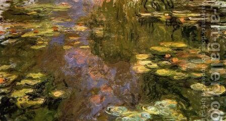 The Water-Lily Pond1 1917-1919 by Claude Oscar Monet - Reproduction Oil Painting