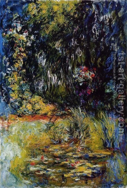 The Water-Lily Pond1 1918-1919 by Claude Oscar Monet - Reproduction Oil Painting